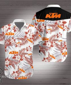 KTM racing hawaiian shirt