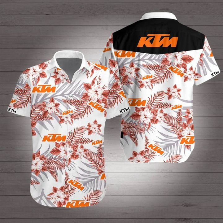 KTM racing hawaiian shirt 4