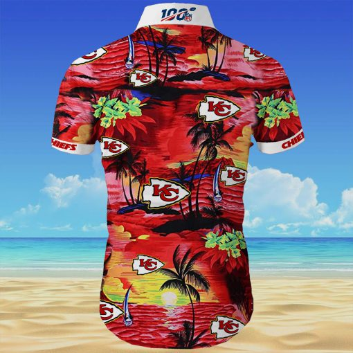 Kansas city chiefs cannabis all over printed hawaiian shirt 3