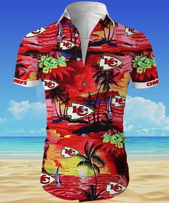 Kansas city chiefs cannabis all over printed hawaiian shirt 4