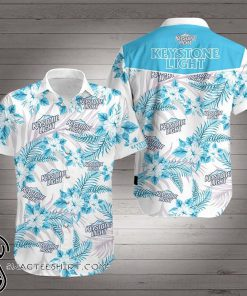 Keystone light beer hawaiian shirt