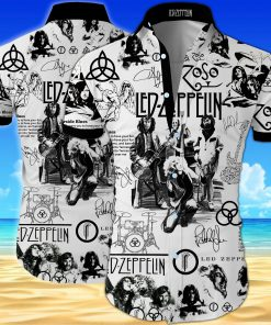 Led zeppelin all over printed hawaiian shirt 1