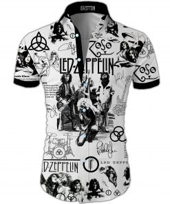 Led zeppelin all over printed hawaiian shirt 3