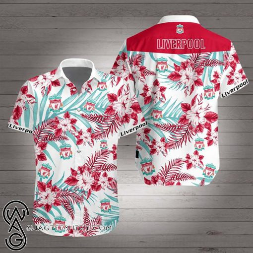 Liverpool football club hawaiian shirt