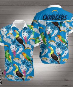 Los angeles chargers team hawaiian shirt