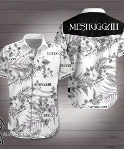 Meshuggah rock band hawaiian shirt