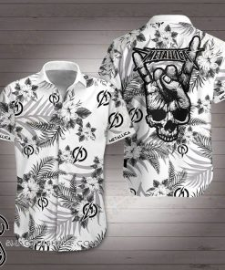 Metallica rock band hawaiian shirt
