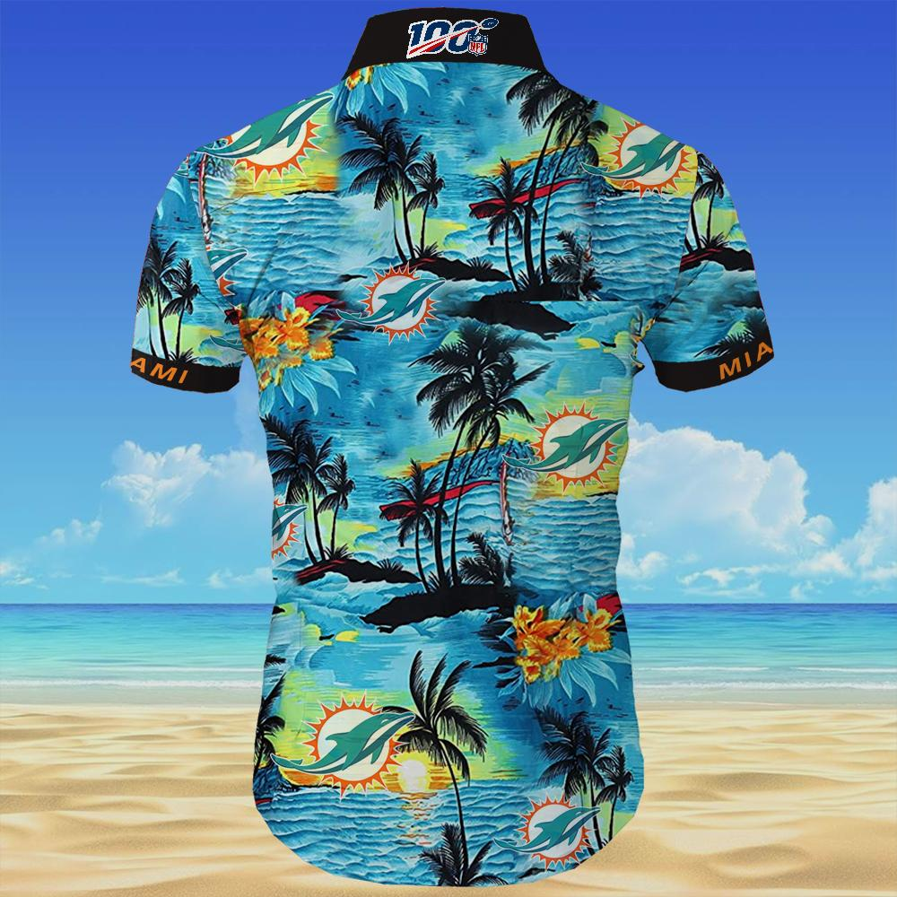 Miami dolphins team all over printed hawaiian shirt 4