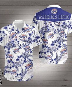Miller lite hawaiian shirt