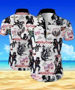 Motley crue band all over printed hawaiian shirt 1