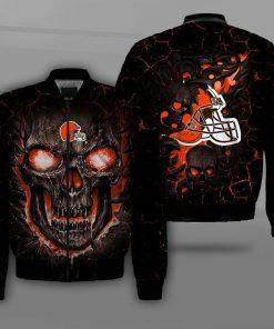 NFL cleveland browns lava skull full printing bomber