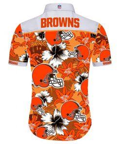 NFL cleveland browns tropical flower hawaiian shirt 3