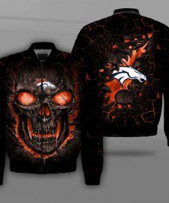 NFL denver broncos lava skull full printing bomber