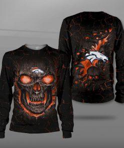 NFL denver broncos lava skull full printing sweatshirt