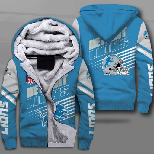 NFL detroit lions football team full printing fleece hoodie
