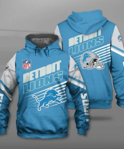 NFL detroit lions football team full printing hoodie