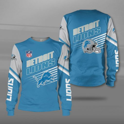 NFL detroit lions football team full printing sweatshirt