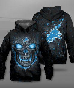NFL detroit lions lava skull full printing hoodie