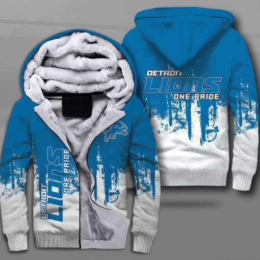 NFL detroit lions one pride full printing fleece hoodie