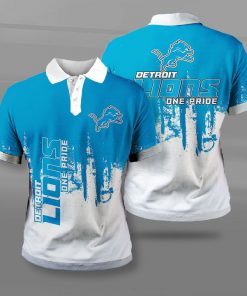 NFL detroit lions one pride full printing polo