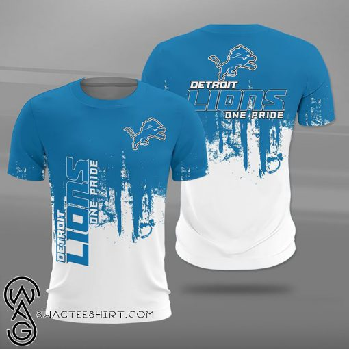 NFL detroit lions one pride full printing shirt