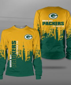 NFL green bay packers go pack go full printing sweatshirt