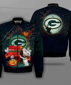 NFL green bay packers snoopy full printing bomber