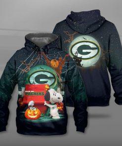 NFL green bay packers snoopy full printing hoodie