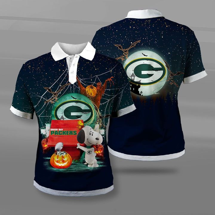 NFL green bay packers snoopy full printing polo