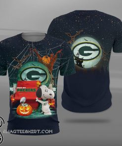 NFL green bay packers snoopy full printing shirt