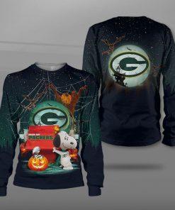 NFL green bay packers snoopy full printing sweatshirt