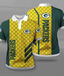 NFL green bay packers team full printing polo