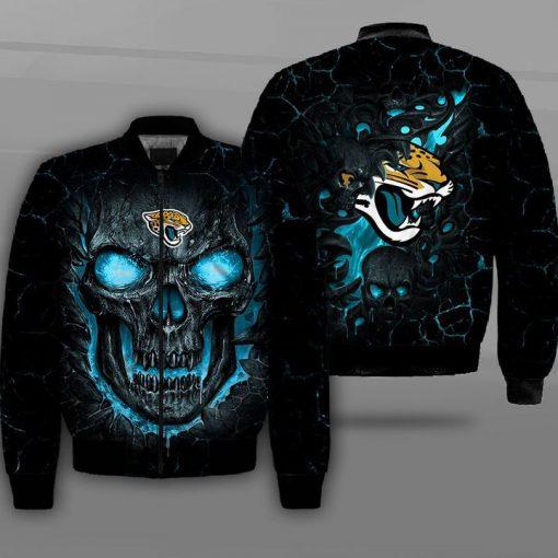 NFL jacksonville jaguars lava skull full printing bomber