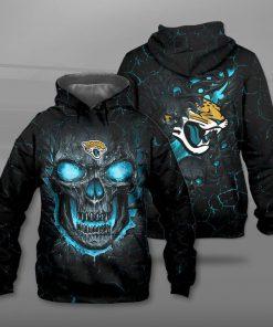 NFL jacksonville jaguars lava skull full printing hoodie