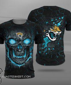 NFL jacksonville jaguars lava skull full printing shirt