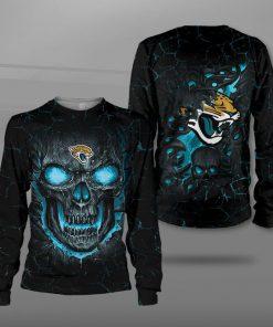 NFL jacksonville jaguars lava skull full printing sweatshirt
