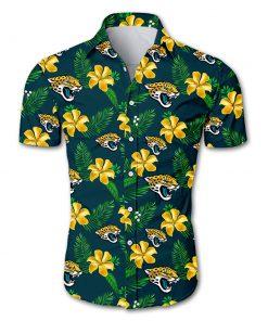 NFL jacksonville jaguars tropical flower hawaiian shirt 2