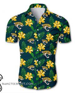 NFL jacksonville jaguars tropical flower hawaiian shirt
