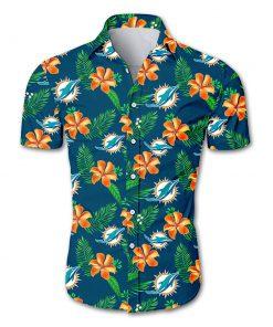 NFL miami dolphins tropical flower hawaiian shirt 4
