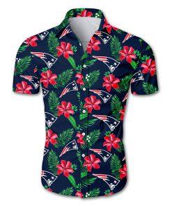 NFL new england patriots tropical flower hawaiian shirt 3