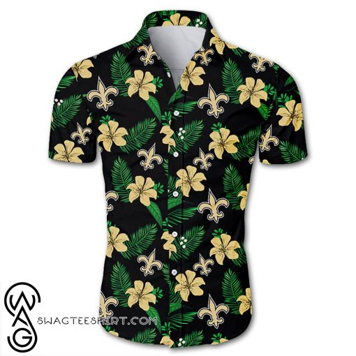NFL new orleans saints tropical flower hawaiian shirt