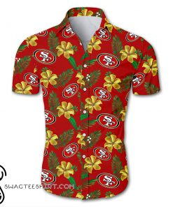 NFL san francisco 49ers tropical flower hawaiian shirt