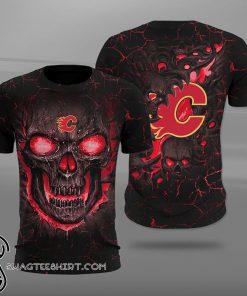 NHL calgary flames lava skull full printing shirt