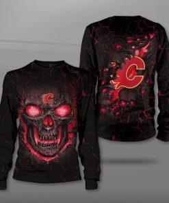 NHL calgary flames lava skull full printing sweatshirt