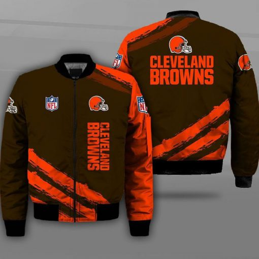 National football league cleveland browns full printing bomber