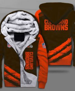 National football league cleveland browns full printing fleece hoodie