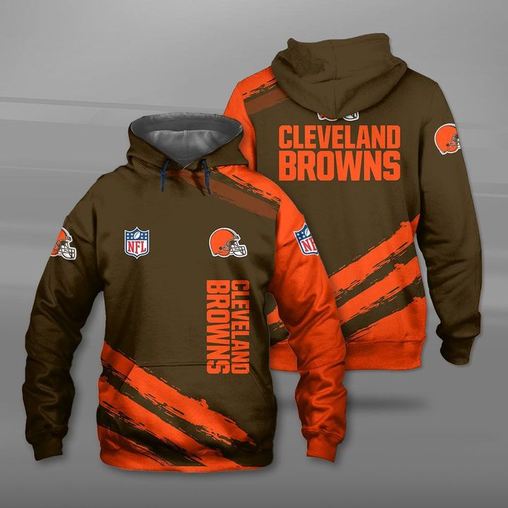 National football league cleveland browns full printing hoodie