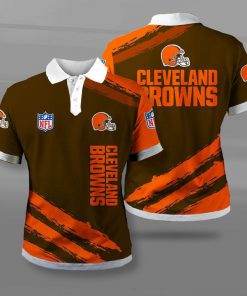 National football league cleveland browns full printing polo