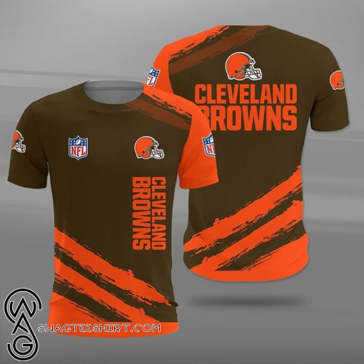 National football league cleveland browns full printing shirt
