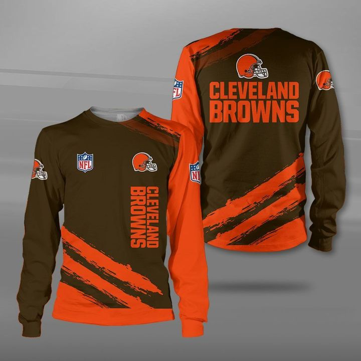 National football league cleveland browns full printing sweatshirt